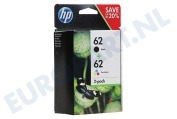 HP Hewlett-Packard 2509176 HP printer HP 62 Combo Pack N9J71AE Officejet 5740, Envy 5640