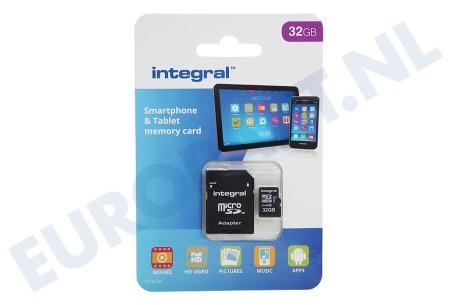 Integral  INMSDH32G10-90SPTAB Memory card Smartphone & Tablet, Class 10 (incl.SD adapter)