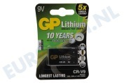 GP  070CR9VC1 6LR61 Photo battery 9V E blokje Lithium *10 jr mbt rookmelder*