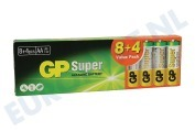 GP  03015AB8+4 LR6 GP Super Valuepack 8+4 AA AA 1,5 Volt