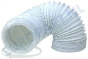 61200800 Slang 100 mm wit -PVC- 1,5 mtr.