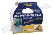 HPX AT4805 All Weather  Tape Transparant 48mm x 5m Reparatie-/Afdichtingstape, 48mm x 5 meter
