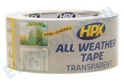 Universeel AT4825 All Weather  Tape Transparant 48mm x 25m geschikt voor o.a. Reparatie Afdichtingstape, 48mm x 25 meter
