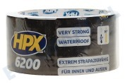 HPX  CB5010 6200 Pantsertape Repair Zwart 48mm x 10m Duct Tape, 48mm x 10 meter