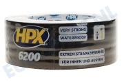 HPX  CB5025 6200 Pantsertape Repair Zwart 48mm x 25m Duct Tape, 48mm x 25 meter