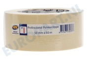 Universeel  MA5050 Professional painterstape Cremewit 50mm x 50m Masking Tape, 50mm x 50 meter
