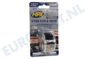 HPX  SZ2503 Stretch & Fuse Zwart 25mm x 3m Isolatietape, 25mm x 3 meter