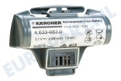 Karcher 26331230 2.633-123.0 Window Vac 5  Batterij 3,7V WV5 Plus Non Stop, WV5 Premium