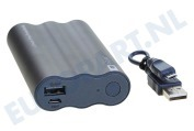 GP 1304H03BLACK 4H03 GP Portable  Powerbank Travo Safe 3800mAh Lithium vrij, NiMH 3,6V