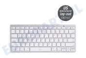 Ewent  EW3163 Ultradun Bluetooth Keyboard - US lay-out (Qwerty) Tablet, Smartphone Wit