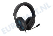 Play  PL3321 Over-ear Gaming Headset met microfoon en RGB leds Stereo 3.5mm jackplug