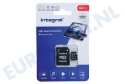 Integral  INMSDX64G-100V10 V10 High Speed microSDHC Card 64GB Micro SDHC card 64GB 100MB/s