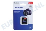 Integral INSDX64G-100V10 V10 High Speed SDHC Memory Card 64GB V10 SDHC card 64GB 100MB/s