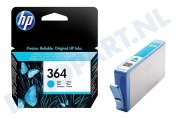 HP-CB318EE HP 364 Cyan Inktcartridge No. 364 Cyan