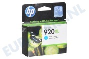CD972AE HP 920 XL Cyan Inktcartridge No. 920 XL Cyan