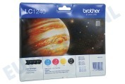 Brother LC1240VALBP LC-1240VALBP Brother printer Inktcartridge LC 1240 Multipack BK/C/M/Y DCPJ525W, DCPJ725DW, MFCJ430W