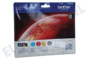 Brother LC1100HYVALBP LC-1100HY-Multipack Brother printer Inktcartridge LC-1100 Multipack BK/C/M/Y DCP-6690CW, MFC-5890CN, MFC-5895CW