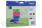 Brother BROI221V LC-221 Brother printer Inktcartridge LC221 Multipack DCP-J562DW, MFC-J480DW, MFC-J680DW, MFC-J880DW