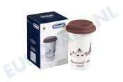 DeLonghi 5513281041 DLSC057  Thermosbeker Keramische beker met dubbele wand The Globetrotter, 350 ml