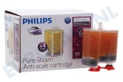 Philips GC004/00  Ontkalker Antikalk Cartridge, 4 Stuks PerfectCare Pure Stoomgeneratoren