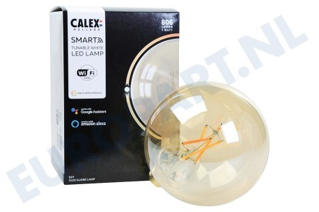 Calex  429104.1 Smart LED Filament Rustic Gold Globelamp E27 Dimbaar