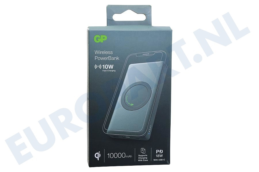 GP  165Q10AGREY Q10A Draadloze Qi Powerbank 10000mAh