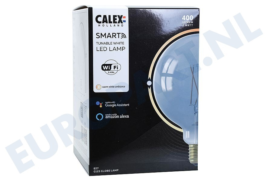 Calex  429108 Smart LED Filament Rustic Smokey Globelamp E27 Dimbaar
