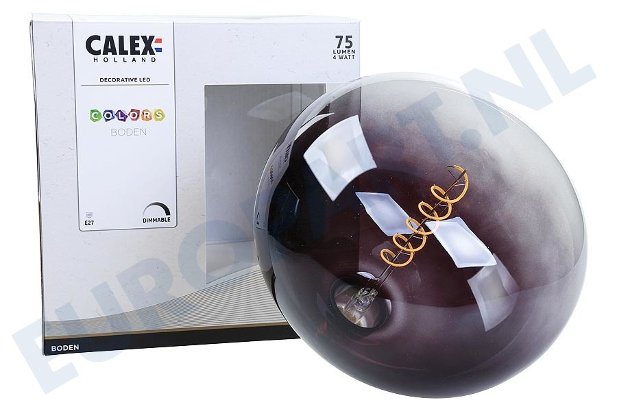 Calex  426226 Colors Boden Moonstone Black LED lamp 4W Dimbaar
