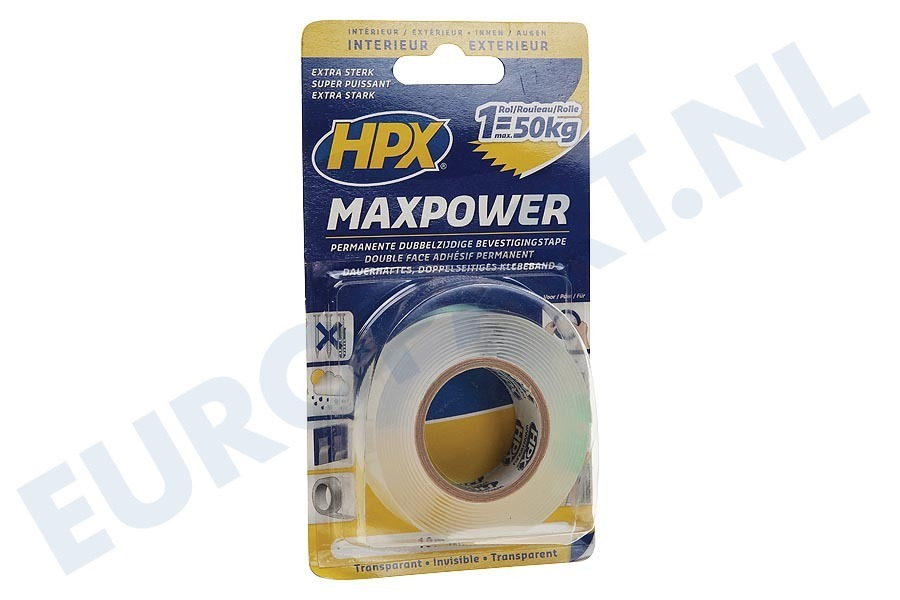HPX  HT1902 MaxPower Transparant 19mm x 2m