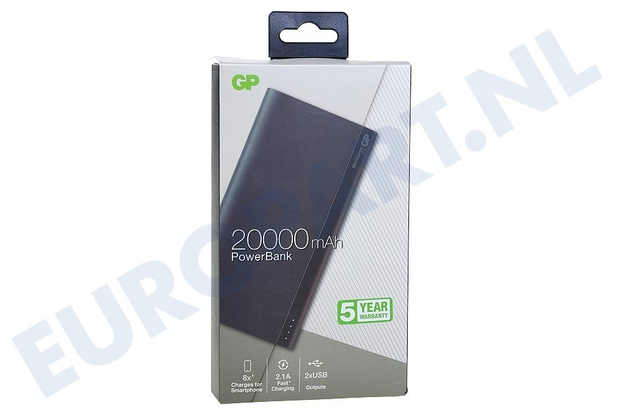 GP  130B20AGREY B20A GP B-Series Powerbank 20000mAh Charcoal Grey