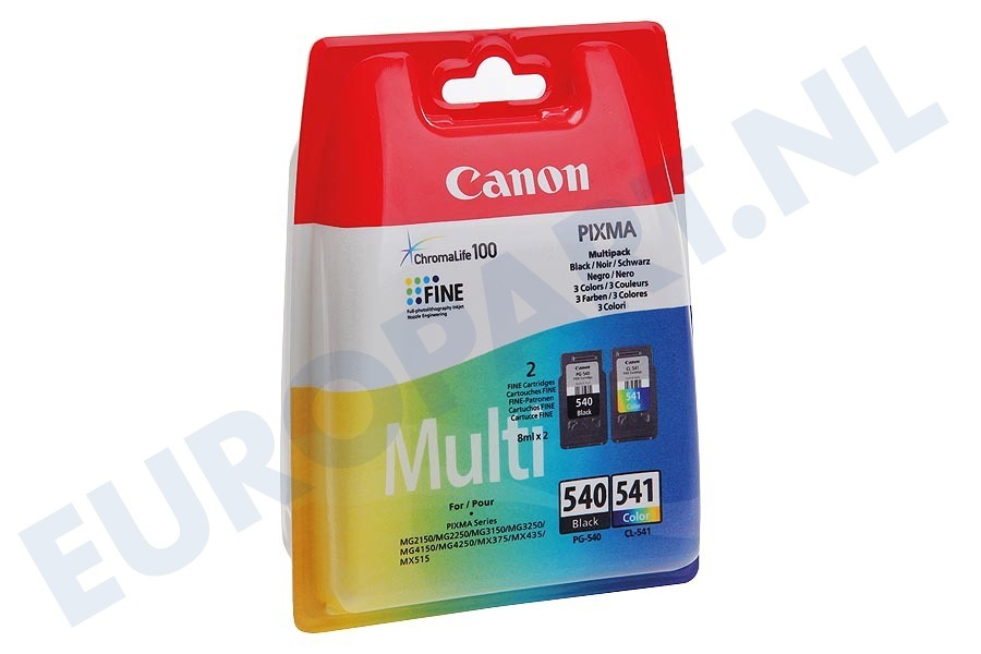 Canon  1713986 Inktcartridge PG 540 Black CL 541 Color Multipack