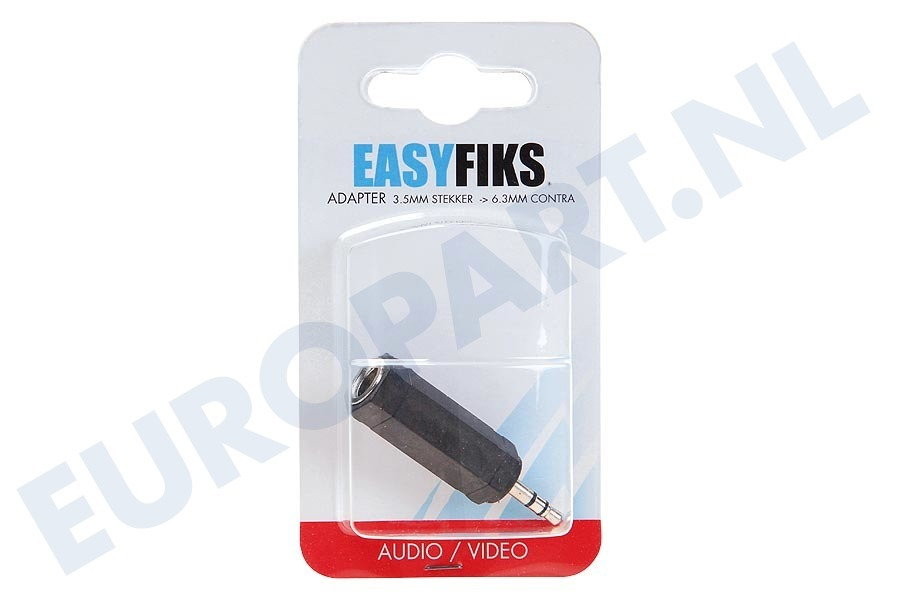 Easyfiks  BME070 Jack Verloopstekker 3.5mm Male - Contra 6.3mm Female