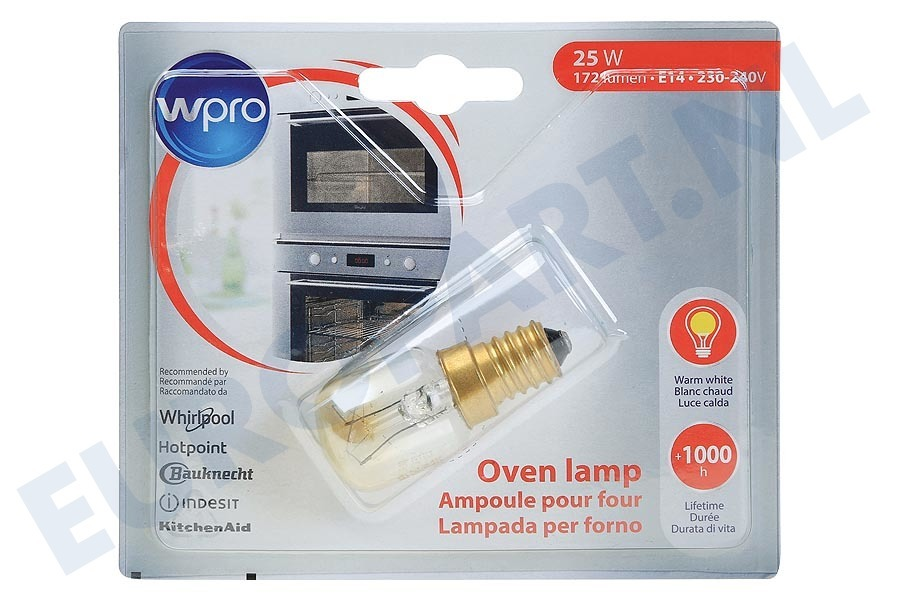 Maytag Oven 484000008842 LFO136 Lamp Ovenlamp 25W E14 T25