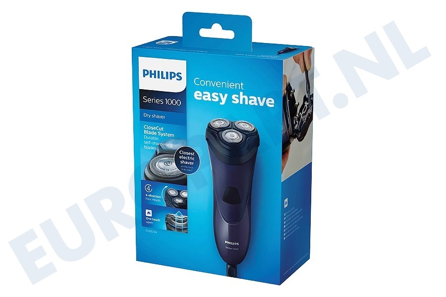 Philips  S1100/04 Scheerapparaat CloseCut-messysteem, Flex-scheerhoofden